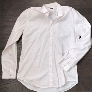 Basic Zara and slim fit button up shirt